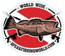 Spearfishing World Die-cut Logo Sticker
