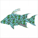 Speared Camo Hogfish Decal/Sticker