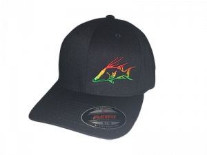 Inletville flex fit rasta hog fish hat for Fitted fishing hats