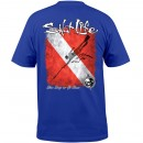 Salt Life Into the Deep Short Sleeve T-Shirt Blue