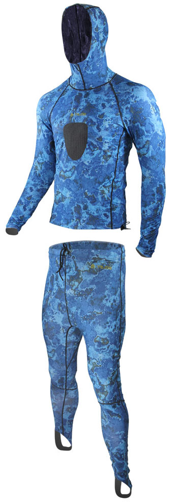 Tilos Blue Camo Spearfishing Lycra