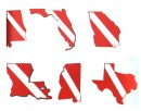 State Dive Flag Double Vinyl Sticker