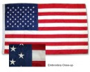 USA Embroidedred Flag